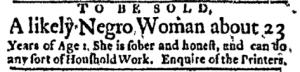 Jun 20 - Boston Evening-Post Supplement Slavery 1