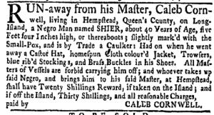 Jun 20 - New-York Gazette Weekly Mercury Slavery 4