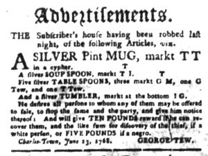 Jun 20 - South-Carolina Gazette Slavery 11