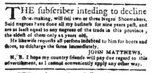 Jun 20 - South-Carolina Gazette Slavery 6