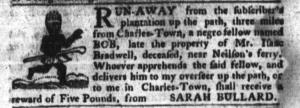Jun 21 - South-Carolina Gazette and Country Journal Slavery 1