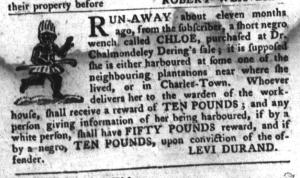 Jun 21 - South-Carolina Gazette and Country Journal Slavery 12