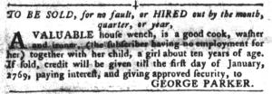 Jun 21 - South-Carolina Gazette and Country Journal Slavery 4