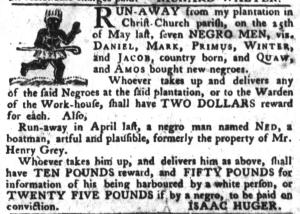 Jun 21 - South-Carolina Gazette and Country Journal Slavery 5