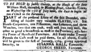 Jun 21 - South-Carolina Gazette and Country Journal Slavery 7
