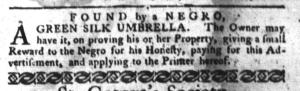 Jun 21 - South-Carolina Gazette and Country Journal Slavery 8