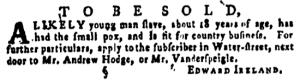 Jun 23 - Pennsylvania Gazette Supplement Slavery 1