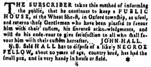 Jun 23 - Pennsylvania Gazette Supplement Slavery 2