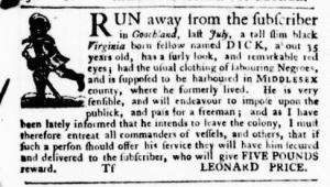 Jun 23 - Virginia Gazette Purdie and Dixon Slavery 5
