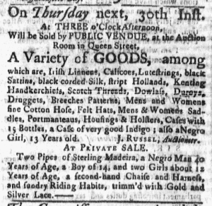 Jun 27 - Massachusetts Gazette Slavery 1