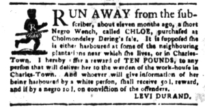 Jun 27 - South Carolina Gazette Slavery 13