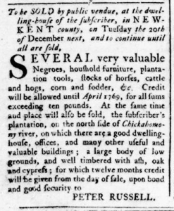 Jun 30 - Virginia Gazette Rind Slavery 5