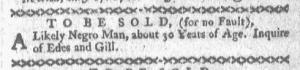 Jun 6 - Boston-Gazette Supplement Slavery 1