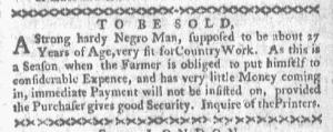 Jun 6 - Boston-Gazette Supplement Slavery 2