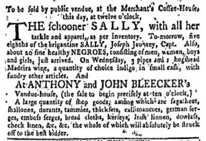 Jun 6 - New-York Gazette Weekly Mercury Slavery 1