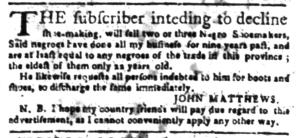 Jun 6 - South Carolina Gazette Slavery 4
