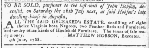Jun 8 - Georgia Gazette Slavery 1