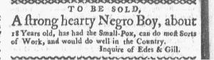 Aug 1 - Boston-Gazette Slavery 3