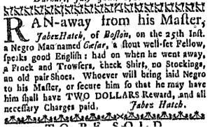 Aug 11 - Massachusetts Gazette Draper Slavery 3