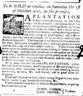 Aug 11 - Virginia Gazette Purdie and Dixon Slavery 4