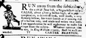 Aug 11 - Virginia Gazette Purdie and Dixon Slavery 6