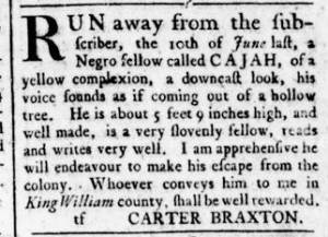 Aug 11 - Virginia Gazette Rind Slavery 10