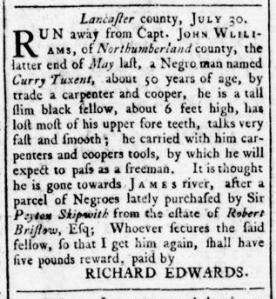 Aug 11 - Virginia Gazette Rind Slavery 4