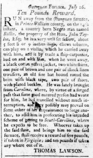 Aug 11 - Virginia Gazette Rind Slavery 6