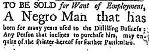Aug 4 - Boston Weekly News-Letter Slavery 4