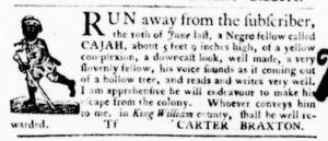Aug 4 - Virginia Gazette Purdie and Dixon Slavery 4