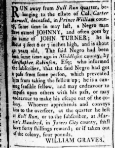 Aug 4 - Virginia Gazette Rind Slavery 2