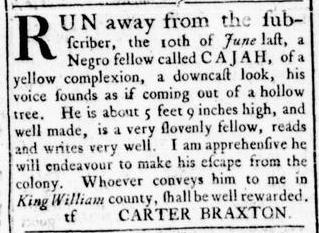 Aug 4 - Virginia Gazette Rind Slavery 7