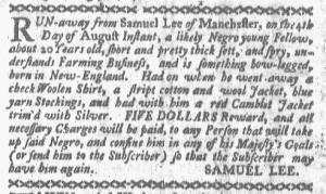 Aug 8 - Boston-Gazette Slavery 1