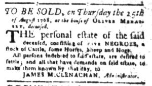 Aug 8 - South-Carolina Gazette Slavery 9