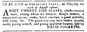 Aug 9 - South-Carolina Gazette and Country Journal Slavery 5