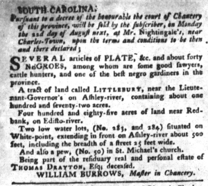 Aug 9 - South-Carolina Gazette and Country Journal Slavery 7