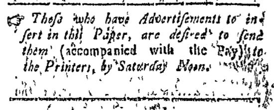 Jul 18 - 7:18:1768 Connecticut Courant