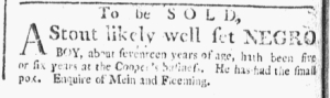 Jul 18 - Boston Chronicle Slavery 1