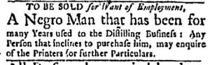 Jul 18 - Boston Evening-Post Supplement Slavery 1