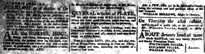 Jul 18 - South-Carolina Gazette Additional Supplement Slavery 2