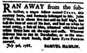 Jul 18 - South-Carolina Gazette Postscript Slavery 4