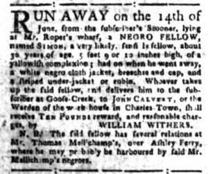 Jul 18 - South-Carolina Gazette Slavery 3
