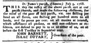 Jul 19 - South-Carolina Gazette and Country Journal Slavery 5