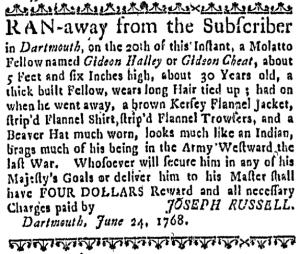 Jul 21 - Massachusetts Gazette Draper Slavery 1