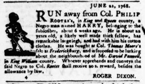 Jul 21 - Virginia Gazette Purdie and Dixon Slavery 4
