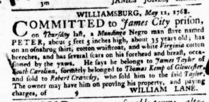 Jul 21 - Virginia Gazette Purdie and Dixon Slavery 7