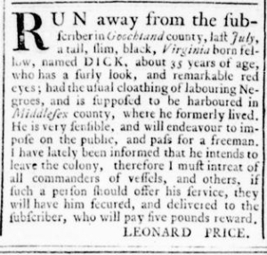 Jul 21 - Virginia Gazette Rind Slavery 4
