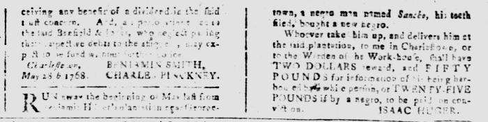 Jul 22 - South Carolina and American General Gazette Slavery 7