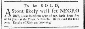 Jul 25 - Boston Chronicle Slavery 1