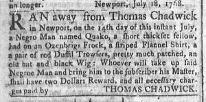 Jul 25 - Newport Mercury Slavery 1